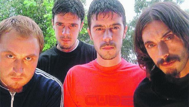 Los cuatro componentes de El Cubo, que actuarán hoy en La Fábrica junto al grupo Pacífico.