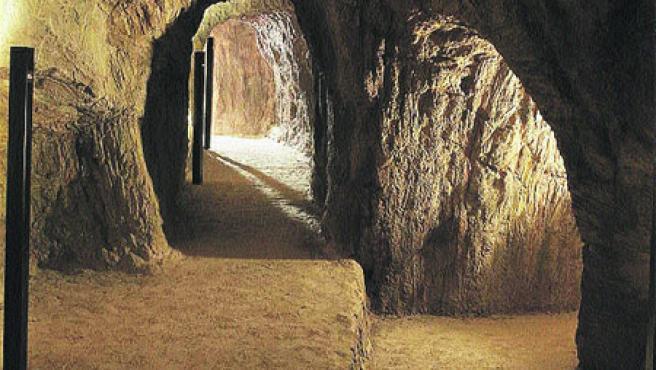 Las minas del Parque Arqueológico de Gavà. (Acn)