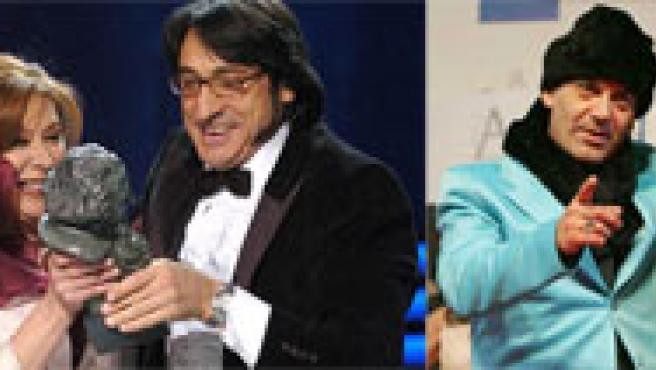 Algunos de los galardonados en la Gala de los Premios Goya 2006 (EFE).