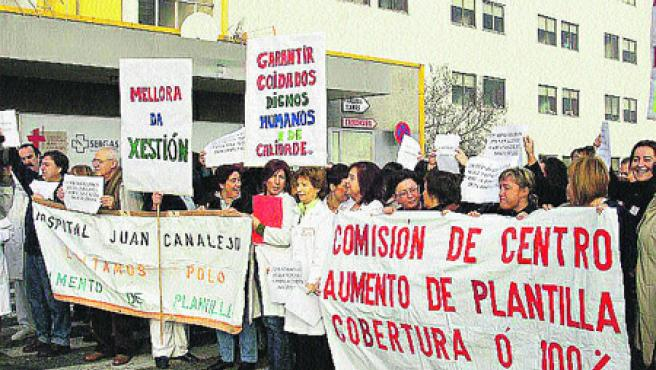 Personal de Urgencias demandó ayer más medios. Moncho Fuentes