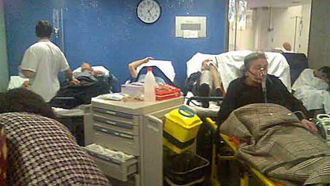 Aspecto de la zona de urgencias del Hospital del Mar.