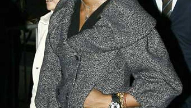 Naomi Campbell, hoy en el Juzgado (REUTERS/KEITH BEDFORD)