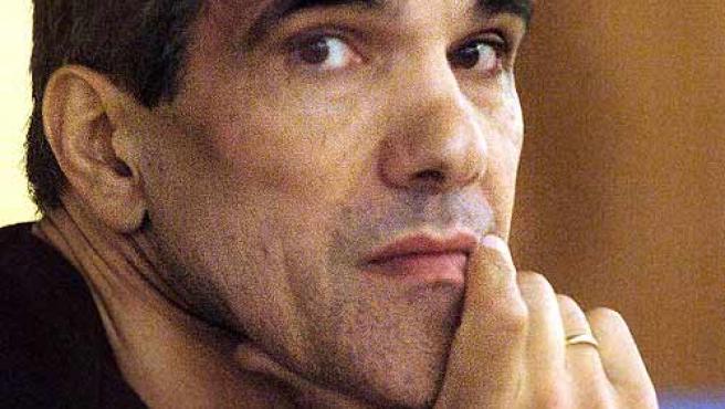 'Gadafi', en uno de los juicios celebrados contra él (E. Naranjo / Efe)