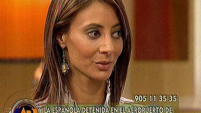 Ana María Ríos Bemposta, entrevistada en Tele 5.