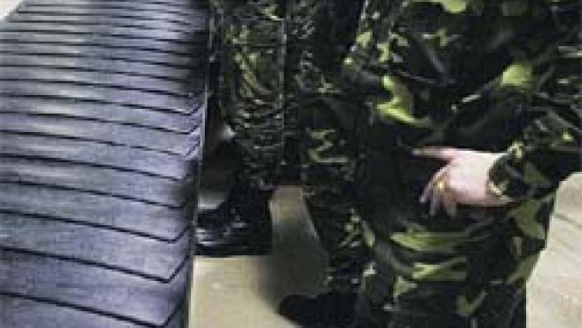Son los integrantes de la agrupación táctica Vitoria, del Ejército de Tierra.(D. Aguilar/Efe)