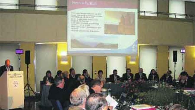 Un momento de la presentación de la candidatura de Murcia, ayer por la mañana. No fue suficiente para convencer a los organizadores.