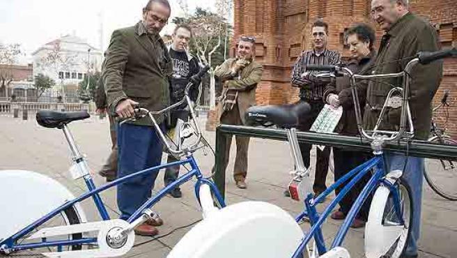 Models de bicicleta que es podran llogar a partir del 23 de març. (Eros Albarrán)