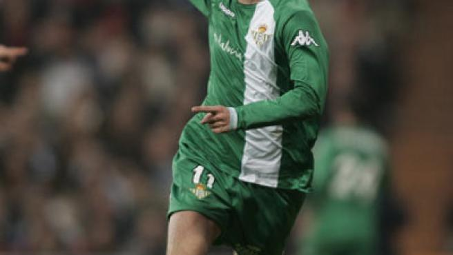 Dani celebra su gol al Madrid (B.Echávarri/EFE).