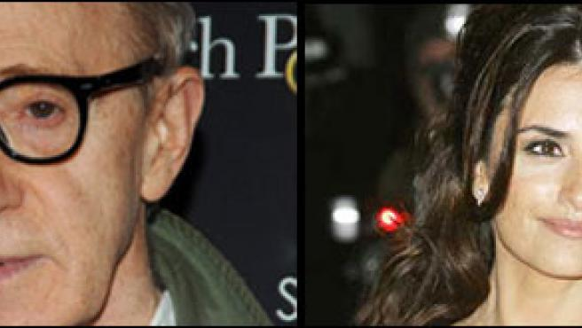 Woody Alllen y Penélope Cruz