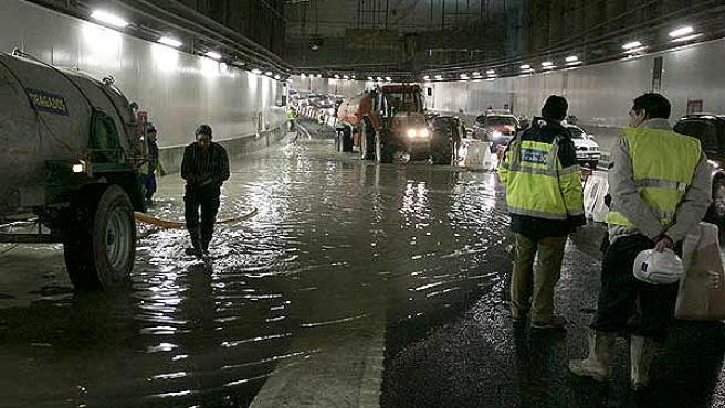 La balsa de agua inundó el nuevo túnel de la M-30 (Foto: Blog es por madrid)