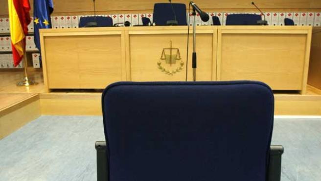Sala en la que se celebra el juicio del 11-M. (Efe)