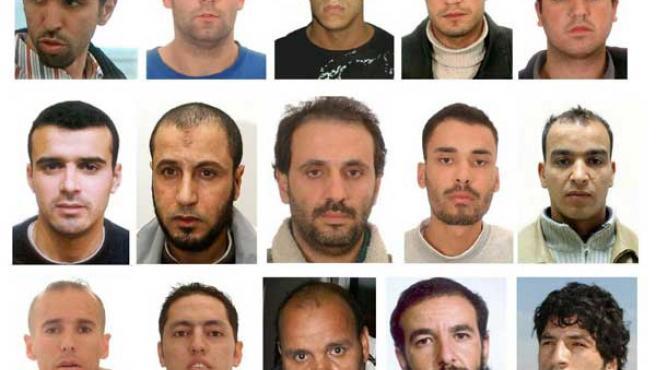 Algunos de los acusados por el 11-M. (Efe)