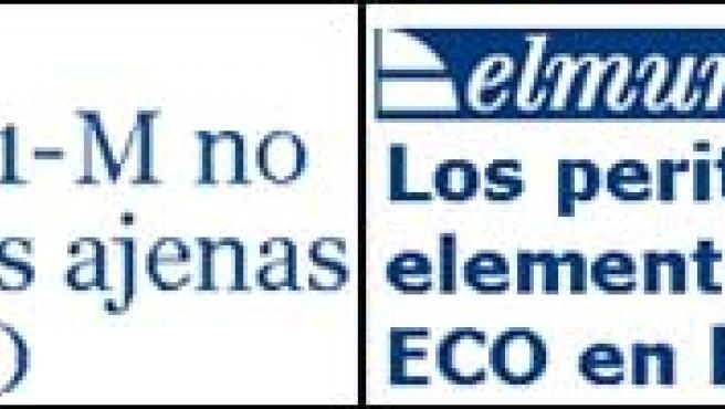 La noticia, en El País y El Mundo