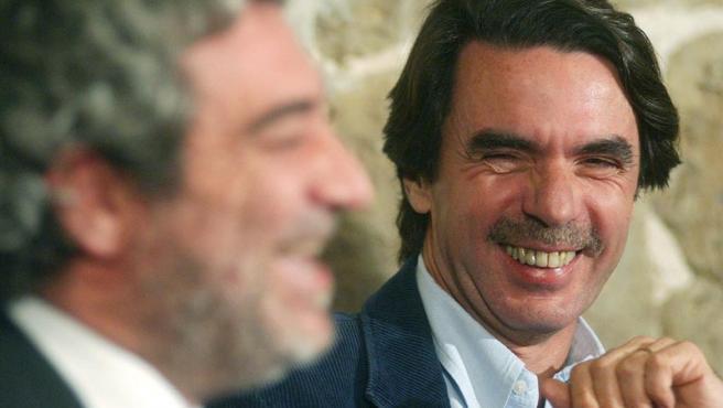 Miguel Ángel Rodríguez, junto al ex presidente Aznar en una foto de archivo.