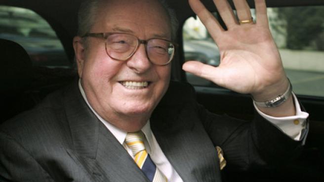 Jean-Marie Le Pen, en Saint Cloud, cerca de París. (John Schults / REUTERS)