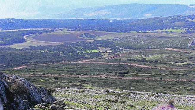 El paraje de Los Merinos donde se va a edificar el complejo (El Observador).