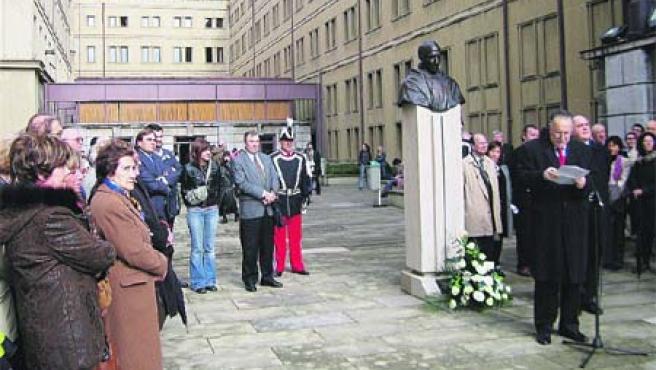 Calificado como bilbaíno universal, el padre Pedro Arrupe.(M.R)