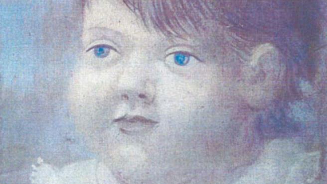 Picasso.Retrato de Paulo con cuello blanco (1922). Óleo sobre tela. 34,5 x 30 cm