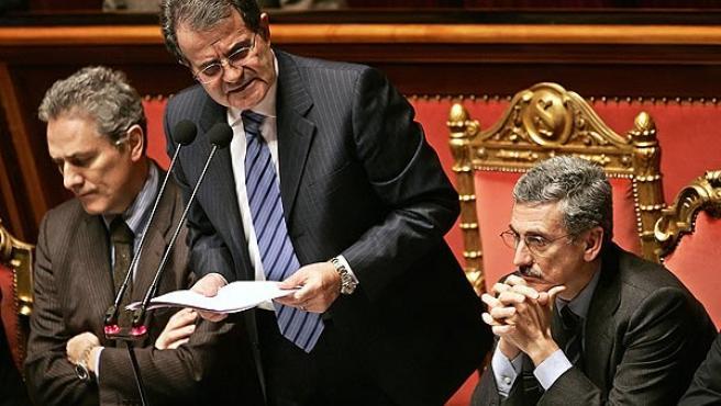 Romano Prodi, en el Senado, en una imagen de archivo. (Tony Gentile / Reuters)