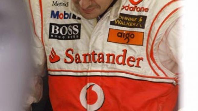 Fernando Alonso, durante los entrenamientos. (Reuters)
