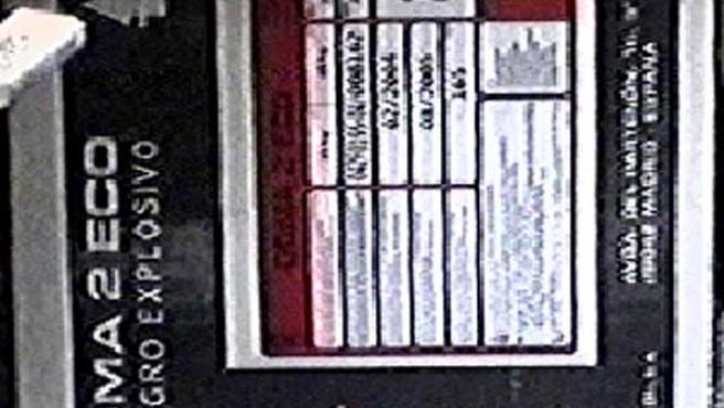 Fotografía tomada por la Guardia Civil en un polvorin de la mina Conchita que contenía Goma 2 Eco (Telemadrid)