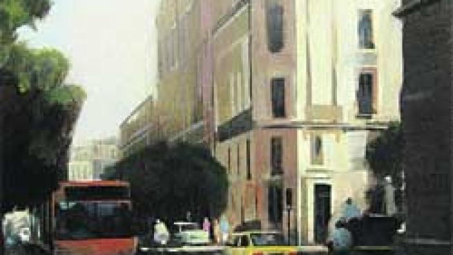 Alberto Ortega recurre a la realidad y su obra parece casi fotográfica. Sobre estas líneas, dos pinturas figurativas de Ignacio Algarín y abajo, dos abstractos de Pablo F. Pujol.