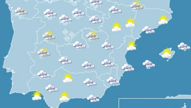 Las lluvias serán fuertes en el norte de la Península.