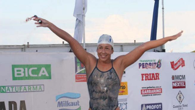 Esther Núñez celebra una victoria