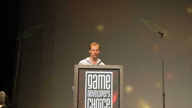 Chris Hecker durante una intervención en la GDC. (Gamedev.net)