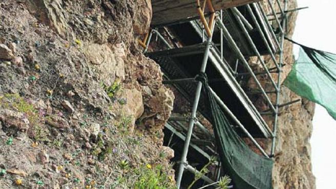Un total de 45.000 euros se van a invertir en la investigación, protección y conservación de yacimientos en el complejo arqueológico de La Araña (Martín Mesa).