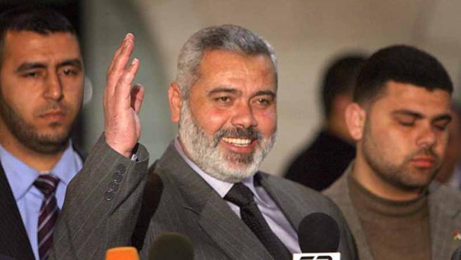 Haniya, de nuevo primer ministro, pero esta vez de un gobierno de unidad nacional.