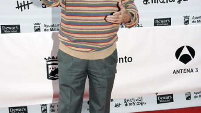 Alfredo Landa en el festival de cine de Málaga.