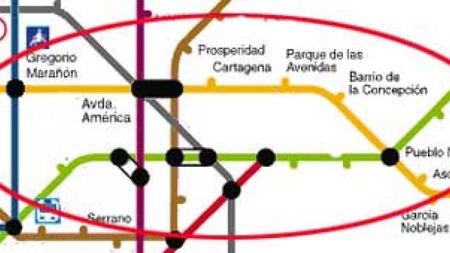 El tramo afectado de la línea 7