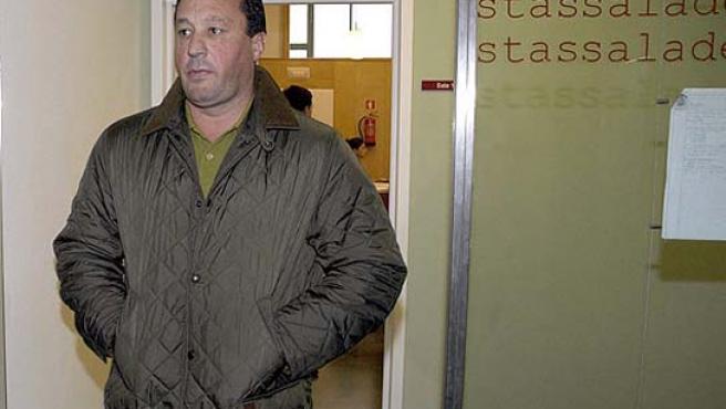Constantino García, en el Juzgado de Burgos tras concluir el juicio.