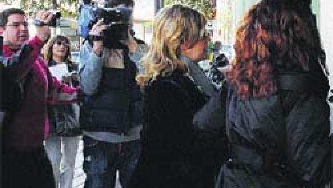 Marisol Yagüe, ayer, a la entrada de los juzgados de Marbella (EFE).