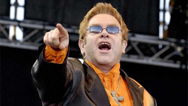 Elton John, en una actuación en Guadalajara.