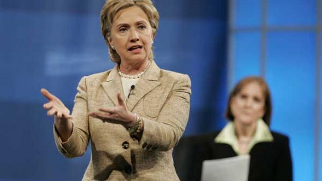 La senadora Hillary Clinton, esta semana.