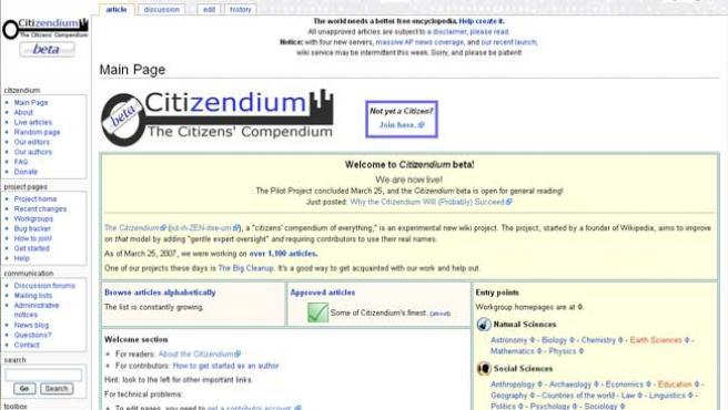 Citizendium pretende competir con la Wikipedia.