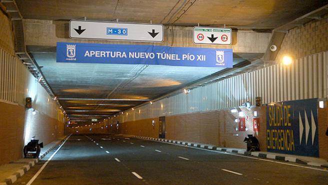 El túnel de Pío XII, inaugurado ayer (RAFAEL ALBARRÁN /EFE)