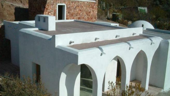 Una casa hecha a base de cáñamo.