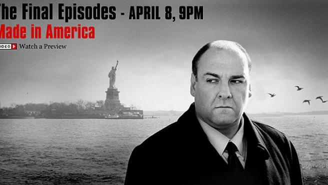 Cartel promocional de la última temporada de Los Soprano (HBO)