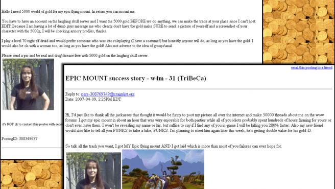 Esta chica se prostituyó para conseguir dinero en el videojuego World of Warcraft. (The Inquirer)