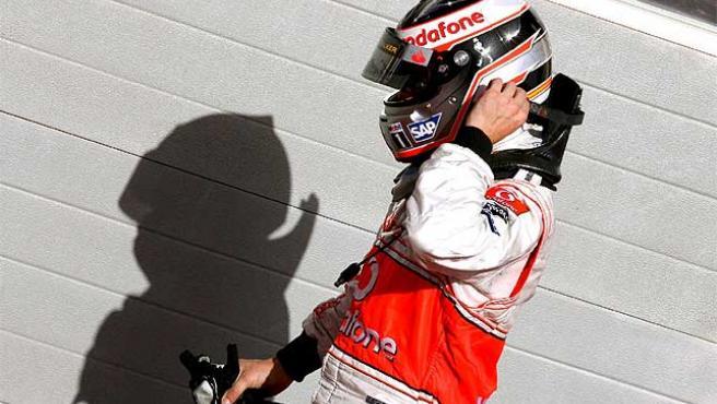 Fernando Alonso, tras acabar la carrera. (Efe)