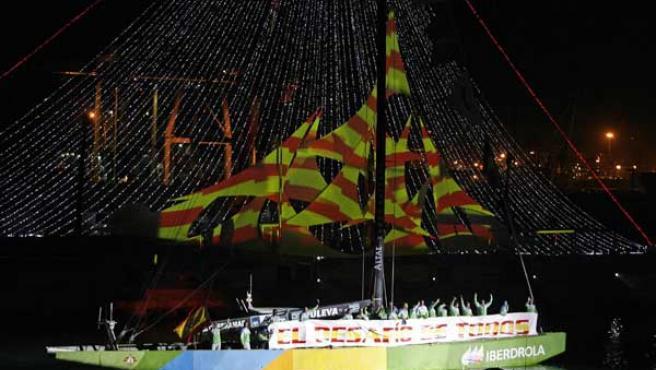La tripulación del Desafío Espanol (Reuters).