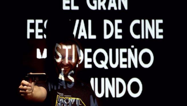 El director del Festival Movil Film Fest, Alberto Tognazzi, durante la presentación del primer festival español de películas rodadas integramente con teléfonos móviles.