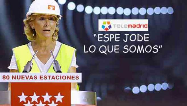 """Imagen recogida en Theblog.es donde juega con el lema de Telemadrid """"Espejo de lo que somos"""""""