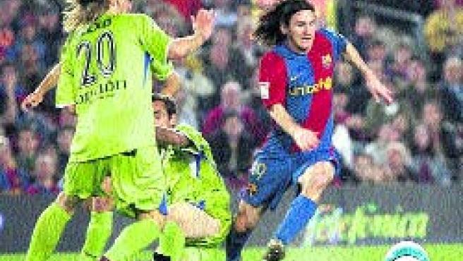 Messi regateó a 1, 2, 3, 4, 5, 6 y 7 rivales.