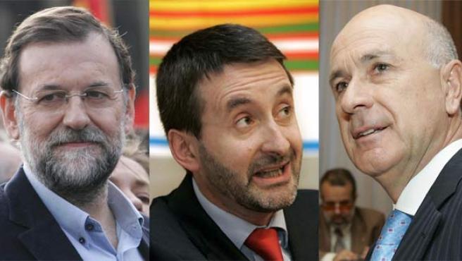 Mariano Rajoy, Josu Jon Imaz y Josep Antoni Duran i Lleida.