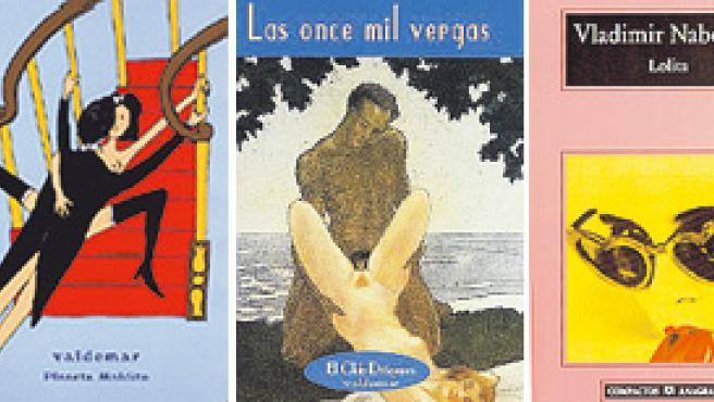 Obras de Sade, Strachey, Apollinaire, Nabokov, Pauline Réage.