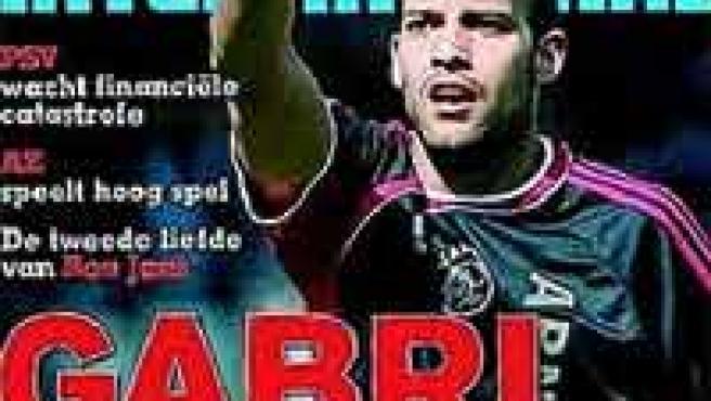 Gabri, en la portada de 'Voetbal International'.